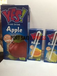 YES FRUIT JUICE - MADE IN EGYPT - Port Said Express